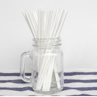 Best OEM And ODM Plain Solid White Paper Straws 100PCS Environmental Protection wholesale