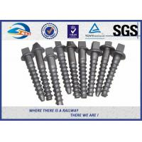 Buy cheap Railway sleeper fixing screws Black Oxide ISO 24 Dia 160 Length SS8 product
