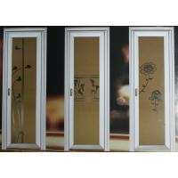 Best 1.0mm - 1.2mm profile thickness wood grain aluminum hinged doors with single, double doors wholesale