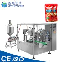 China Automatic Liquid Pouch Packing Machine , Ketchup Packaging Machine Compact Design on sale