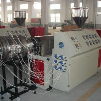 Buy cheap SJ65 Extruder Single Screw Plastic PE Pipe Extrusion Machine from wholesalers