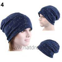 Best 100% cotton Warm Winter Knit Crochet full print custom Beanie  Hat Cap wholesale