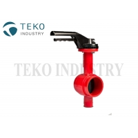 "Best Bi - Directional Seal Fire Safe 2"" 12"" Grooved Butterfly Valve wholesale"