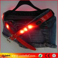 China On Line Store Crystal LED Stud Flashing TPU Leather Women LED Belt on sale
