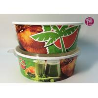 Best Custom Logo Flexo Print Paper Salad Bowls Disposable 44oz With Lid wholesale