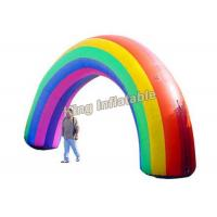 China Colorful Oxford Fabric Rainbow Inflatable Arches For Event Entrance on sale