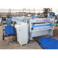 Best PLC Automatic Zinc Roofing Roll Forming Machine / Corrugated Roof Sheet Making Machine wholesale