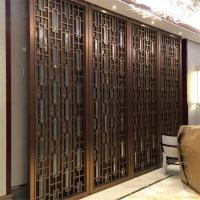 Best bronze color Metal Room Divider Screen Partition for hotel room decoration wholesale