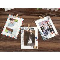 6inch vintage style hanging paper photo frame wholesale stamped paper