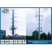 China Hot Dip Galvanized Power Transmission Poles for Power Distribution Line on sale