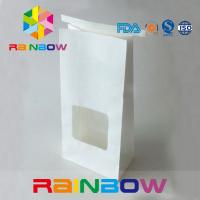 China Tin Tie Top Kraft Customized Paper Bags With Window For Flower Seed Tea Packing wholesale