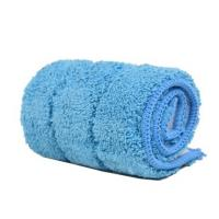 Best Blue 380gsm Microfiber Wet Mop Pads , Pocket Shaped Multifunctional Mops wholesale