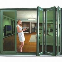Buy cheap Bi-folding folding door with aluminum frame profile, pannel glass from wholesalers