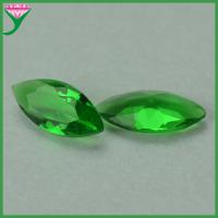 Best machine cut marquise shaped green clear crystal glass gem stones wholesale