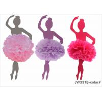 Best Pink Girl Honeycomb Pom Pom Wedding Decorations With No Printing , Long Lasting wholesale