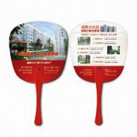 Cheap Hand Fans, Customer's Logos Printings are Available, Made of PP, Suitable for for sale