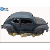 Best Novelty Blue Car Cool Fish Tank Decorations Household Resin Ornament Aquarium Products wholesale