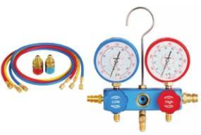Best Auto AC Tool 1234YF environmental protection plastic box Gauge set  2196 pipe pressure 800PSI-4000PS wholesale