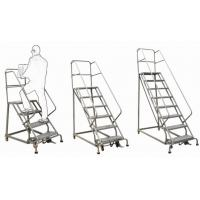 Best Safety Industrial Steel Rolling Ladder / Step Ladder Step Ladder-RL354B Order Picker wholesale