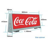 Double Sided Outdoor Led Billboard 4000 / 1 Resolution Taxi Advertising Display