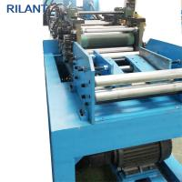 China Metal Roof Cold Roll Forming Machine Uncoiler Leveling Notched Cutting Production Line on sale