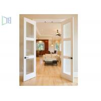 China Double Glazing Frosted Glass Aluminium Hinged Interior Swing Doors for Washroom on sale