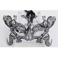 Best Carnival Party  Black Metal Masquerade Mask For Male / Female wholesale
