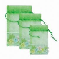 China Novel Organza Bags, Available in Various Colors and Shapes on sale