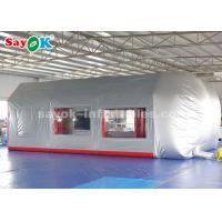 China Mobile Inflatable Paint Spray Booth With Sponge Filter For Car Maintenance on sale