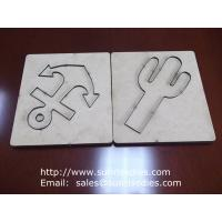 China Scrapbook steel rule cutting die on MDF board, MDF substrate paper crafts die cutter on sale