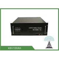 Best 100Ah 4U Rack 48V Deep Cycle Battery , Lithium Ion Battery For Telecom Application wholesale