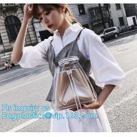 EVA pvc lady packing handbag, Online shop china fashion transparent PVC ladies handbag, holographic handbag, Cosmetic Tr
