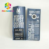 Buy cheap Flat Bottom Aluminum Foil Bags For Coffee Bean / Candy / Chocolate Packaging from wholesalers