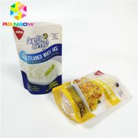 China High Temp Vacuum Storage Bag Transparent Retort Pouch For Sauce Steamed Rice Packaging on sale