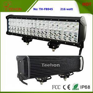 Best 216 Watt 17 Inch CREE Quad Row off-Road LED Light Bar for Trucks wholesale