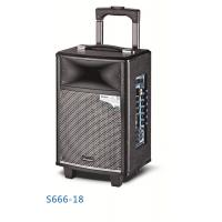 Buy cheap Wireless Bluetooth Rechargeable Trolley Speaker System / Active Outdoor Speakers product