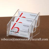 Best 3 Tiers Transparent Acrylic Business Card Holder For Fair and Office wholesale