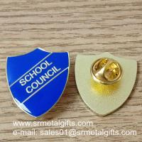 color filled metal lapel pin with epoxy dome
