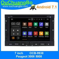 Best Ouchuangbo car multimeia stereo android 7.1 for Peugeot 3008 5008 gps navi dual zoneBluetooth Phone 4*45 Watts amplifier wholesale