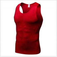 Buy cheap Cotton Body Building Mens Sports Top Men Print Quick Dry Armhole For Workout from wholesalers