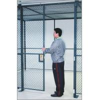 Best Commercial Wire Mesh Partition Panels Full Height Wire Cage Door 230 Lbs Weight wholesale