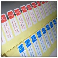 Best Glossy laminated adhesive sticker labels with cutting ,self adhesive paper label with cutting wholesale