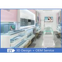 Best Creative Jewelry Store Showcases With MDF + Glass + LED + Lock / Jewellery Shop Furniture wholesale