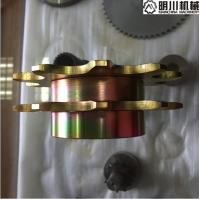 Best Standard 45C Steel Double Chain Sprocket Yellow Zincing Surface Treating wholesale