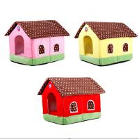 China 50cm Indoor portable fancy luxury foldable warm cotton pet dog house on sale