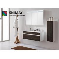 Best MDF Aluminum Wall Mounted Vanity Bathroom Cabinets With Basin Sink wholesale