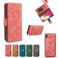 Best Detached 2 in 1 Wallet Case For Samsung Galaxy A20 A20e A30 A40 A50 A70 Wallet Cover Matte Pouch Wholesale wholesale