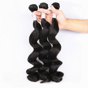 Unprocessed Virgin Human Hair Bundles Loose Deep Wave Human Hair Weave For Black Woman
