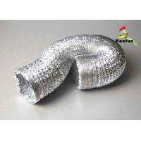 Best Flame Resistant Single or Double Layer Aluminum Flexible Duct for HVAC Systems wholesale