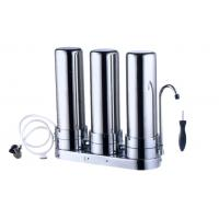 China 3 Stage Filter Stainless Steel Water Filter For Home on sale
